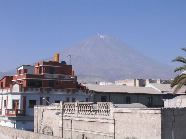 Architecture Arequipa Arequipa - Peru Beauty In Nature Building Exterior Built Structure Clear Sky Day Monastary Monasterio De Santa Catalina Mountain Nature No People Outdoors Scenics Sky Snow Travel Destinations