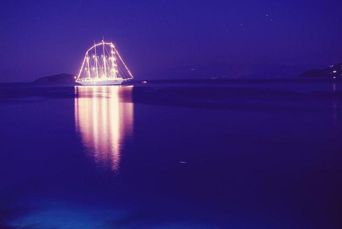 Sea At Night in Skiathos_island Cruisingwith Cruise Ship Seascape Nightphotography Night Lights Nightlife Nightshot