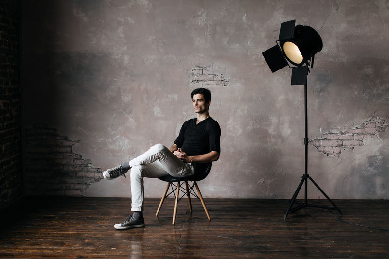 Man sitting in studio
