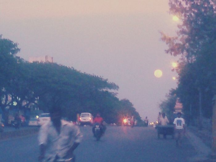 A still of Indian road Night Lights Nightphotography Fullmoon No Filter, No Edit, Just Photography Lowlightphotography