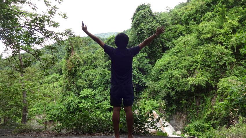 ธรรมชาติบำบัดทุกอย่าง Arms Raised Happiness Standing Outdoors Nature Nature Tree Prachuap Khiri Khan Thailand ตะลุยเดี่ยวแบกเป้เที่ยว