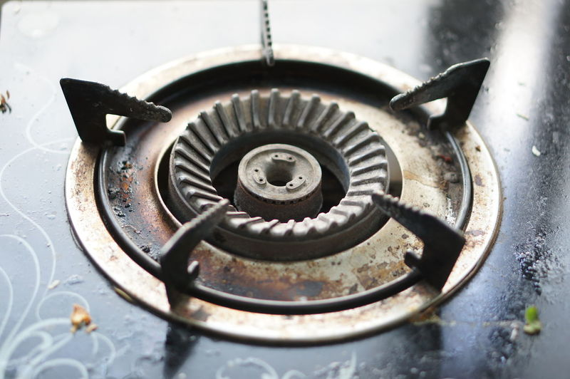 Close-up of burner