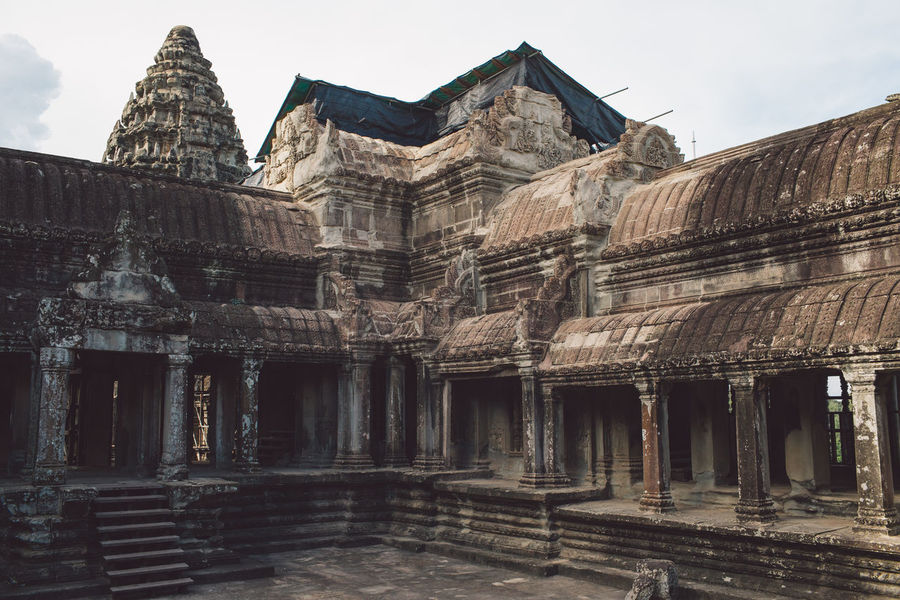 Siem Reap Cambodia Angkor Angkor Wat Angkor Wat, Cambodia Architecture Built Structure Building Exterior History The Past Building Religion Place Of Worship Sky Old Ruin Travel Destinations Belief Ancient Spirituality Old Day No People Nature Tourism Ancient Civilization Ruined Archaeology