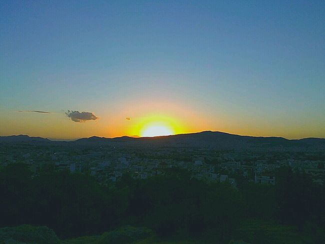 Athens, Greece Sunset Filopapou Cityscape City View  Colour Of Life