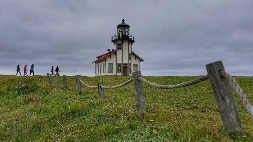 EyeEm Best Shots HDR Lighthouse History Protection Sky Grass Cloud - Sky Guidance Coast Lookout Tower Overcast Storm Cloud