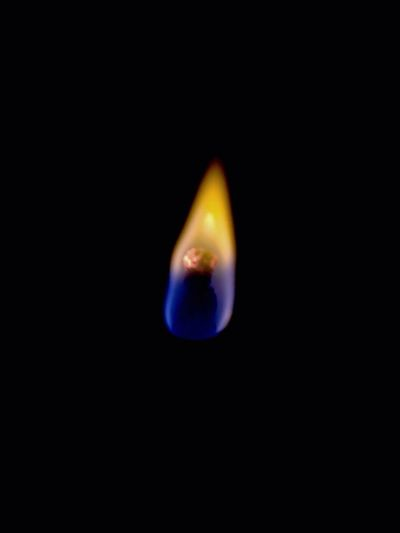 Black Background Flame Fire