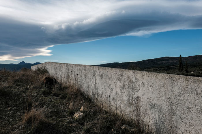 Colors Cévennes Grass Herbs Lines Scenic Wall Animal Blue Sky Clouds Geometry Geometry Pattern Landscape Lines And Shapes Pattern Scenics