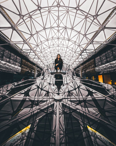 Adult Architecture Built Structure Canonphotography Day Full Length Indoors  Lifestyles Low Angle View One Person One Woman Only Real People Samyang Streetphotography
