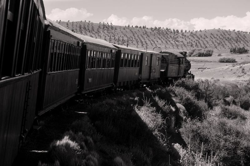 Tren la trochita. Esquel, Chubut. Argentina. Day Locomotive Mode Of Transport Nature No People Outdoors Public Transportation Rail Transportation Railroad Track Sky Steam Train Train - Vehicle Transportation