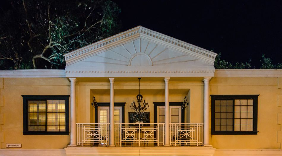 Architecture Built Structure Building Exterior Tree Night No People Building Outdoors Window Nature Plant The Past History Façade Entrance Architectural Column Representation Human Representation Art And Craft Ornate Luxury USA