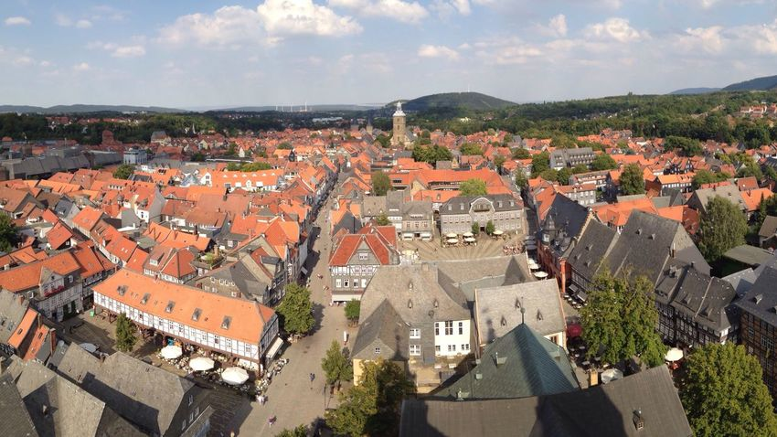 Goslar Harz Germany Panorama Panoramic View Aerial View Town Travel Lower Saxony Niedersachsen Deutschland Cityscapes From Above
