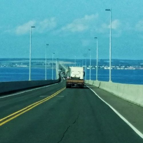 Just going over the Confederationbridge . Yay Pei Eastcoastvacation
