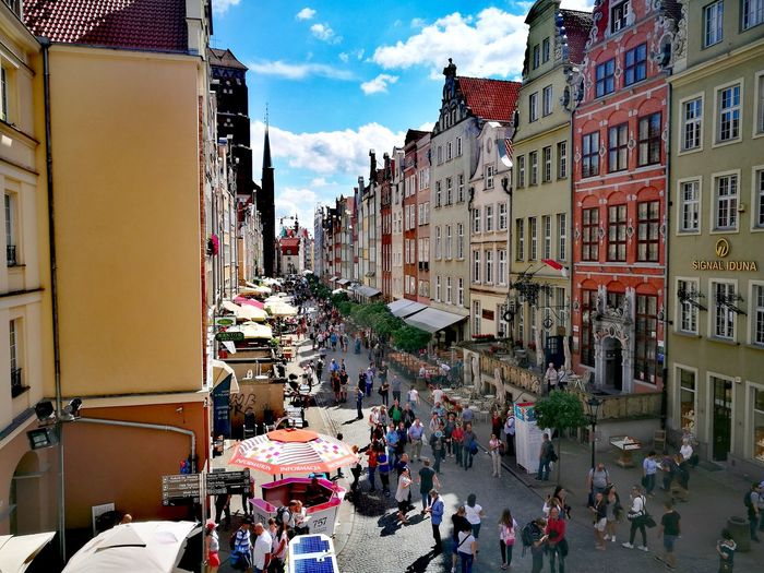 Gdansk (Danzig) Poland 💗 Poland Travel Destinations Traveling Travel Trip Architecture Building Exterior Day Built Structure Sky City Outdoors Travel Destinations Large Group Of People People Vacations Adult