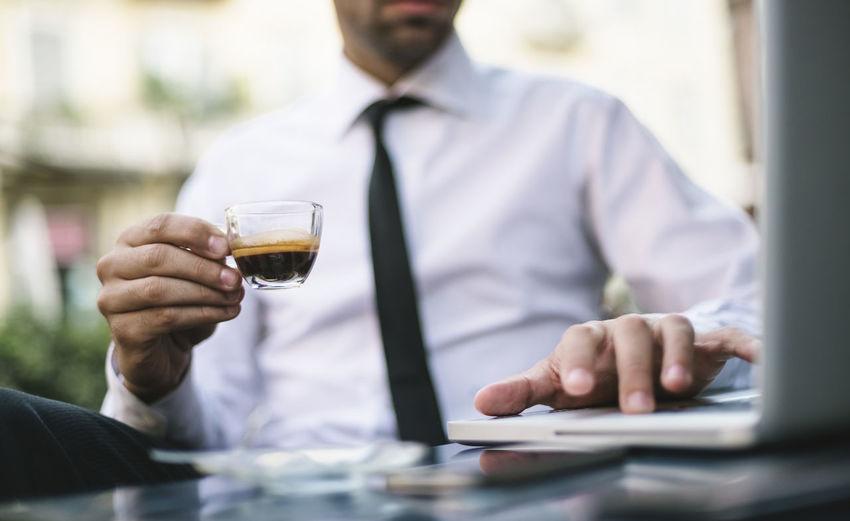 Businessman at cafe