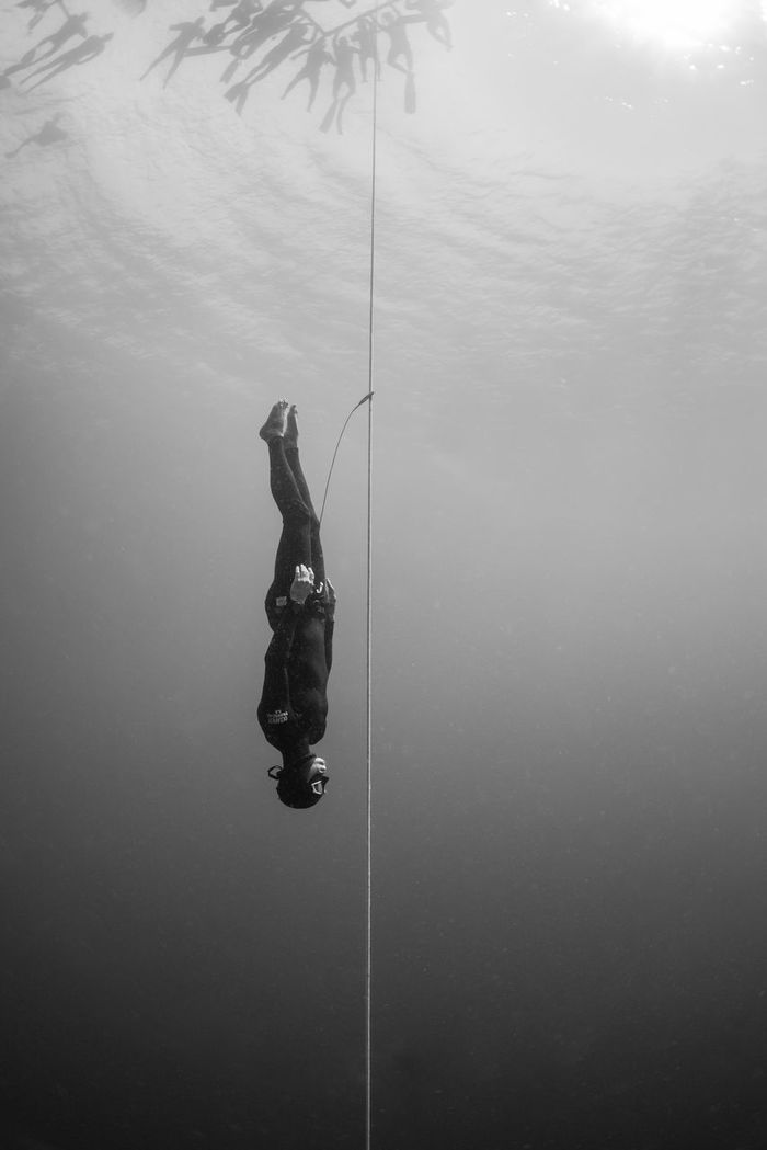 PERSON FISHING AT SEA SHORE