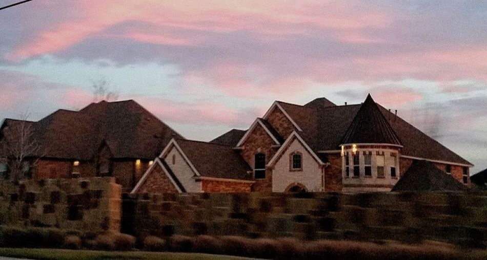 Architecture Building Exterior Built Structure Cloud - Sky Flower Mound, Texas Home Houses Houses And Windows No People Outdoors Sky Sunset