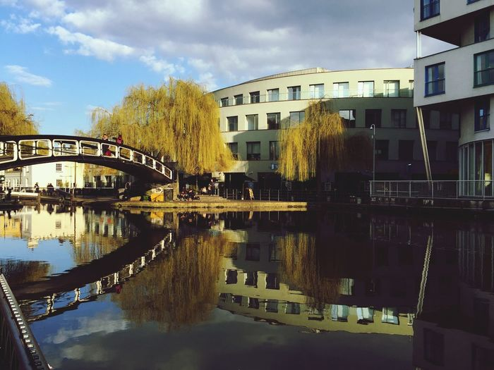 Reflection of building in canal