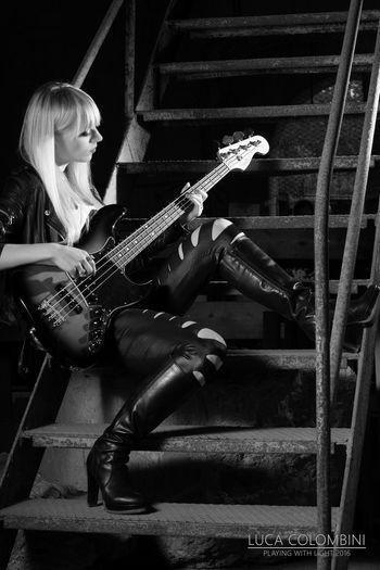 Rock Music Bass Girl