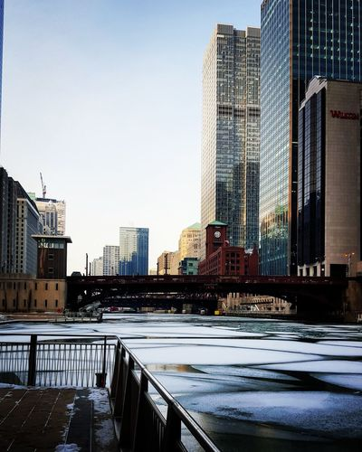 Chicago River On Ice.