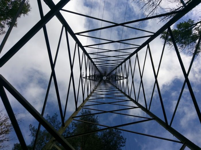 Power up Connection Bridge - Man Made Structure Sky Cable Outdoors Cloud - Sky No People Day Electricity  Hi Voltage
