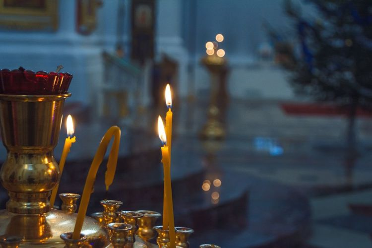 Gold Colored From My Point Of View By Ivan Maximov Light And Shadow Lifestyle Vitebsk,Belarus The Week On EyeEm Traveling Religion Eyeem Photo Church Candles Relaxing Candles Light EyeEm Selects Candle Flame Burning No People Indoors  Illuminated Celebration Close-up