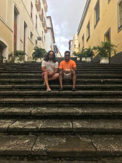 Escadaria em Centro Histórico de São Luís - Maranhão Two People Building Exterior Full Length Built Structure Architecture Lifestyles
