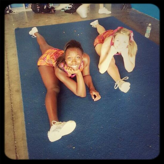 You know ... just chillin in our splits