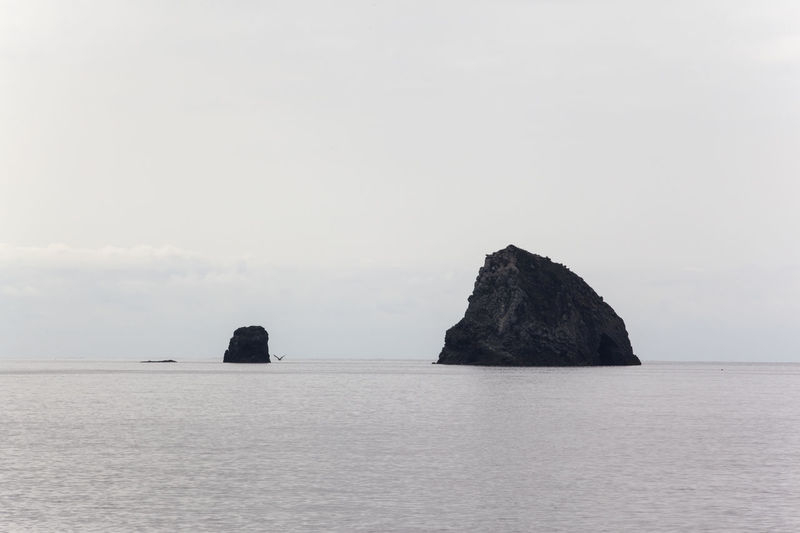 Scenic View Of Rock Formation In Sea At Ulleungdo Island