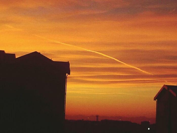 Sunset Orange Sky Milan