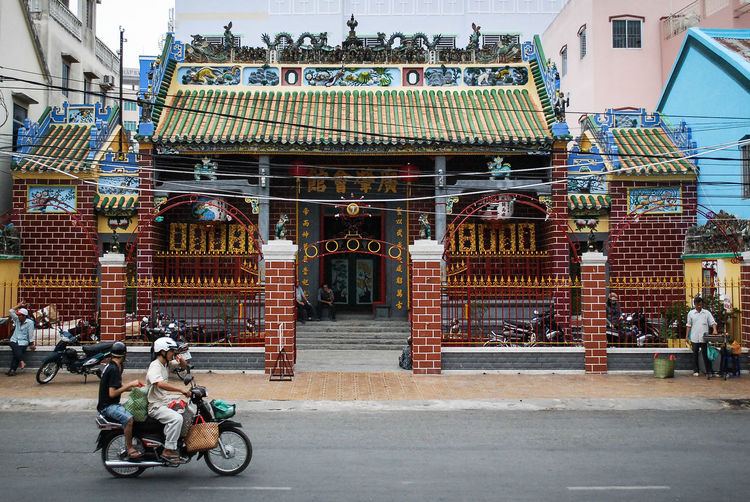 Can Tho Dragons EyeEmNewHere Motor Motorcycle Vietnam Asian Temple City Decoration People Real People Street Temple Transportation