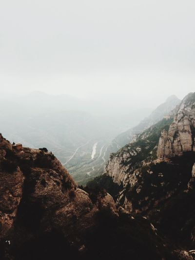 V A L L E Y O F F A I T H Mountain Mountain Range Nature Scenics Beauty In Nature Fog Tranquility Tranquil Scene Landscape Outdoors Sky No People Day Architecture Tree Scenic Lookout SPAIN Barcelona