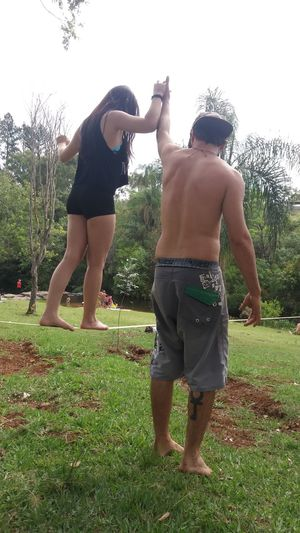 Togetherness Holding Hands Friendship Nature Long Hair That's Me Friends Hi! Happiness Enjoying Life Lifestyles Slackline