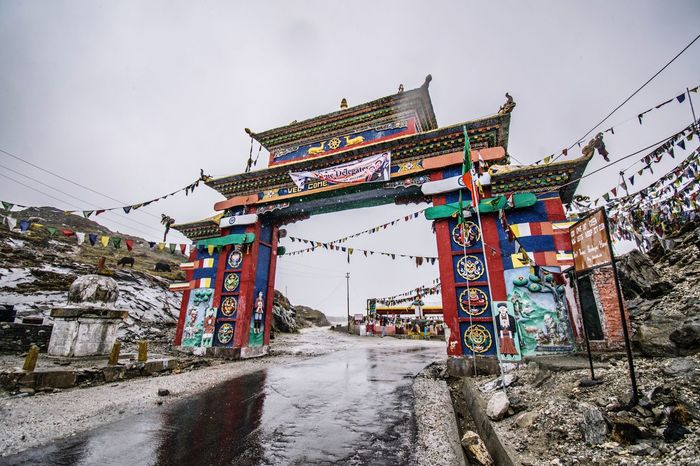 Built Structure Architecture Building Exterior Sky Outdoors Day Clear Sky No People Nature Tibet Tibetan  Gate Tawang Arunachal Pradesh Religion India Indian Street Photography Streetphotography Buddhism Tibetan Buddhism Tibet Travel Tibetan Prayer Flags Buddhist Tibetan Culture Connected By Travel An Eye For Travel