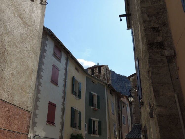Architectural Feature Architecture Blue Building Exterior Built Structure City City Life Clear Sky Day Façade France Photos High Section Low Angle View No People Office Building Old Town Outdoors Provence Provence Village Provenceessentials Sky Tall Travel Photography Travelphotography Window