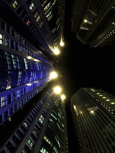 Connected By Travel Illuminated City Building Exterior Futuristic Skyscraper Night Data Technology Architecture Built Structure Global Communications Cityscape Urban Skyline Computer Network Outdoors No People Cyberspace Space Sky Network Server Abudhabi Corniche UAE