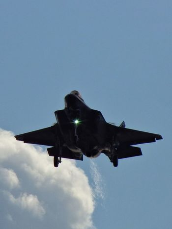 F35 Lightning∥ First Landing Military Military Airplane Fighter Plane Vapor Trail Roarrring Here They Come Technology Out Of The World Sky Blue Sky Perfect Day Outdoors Day