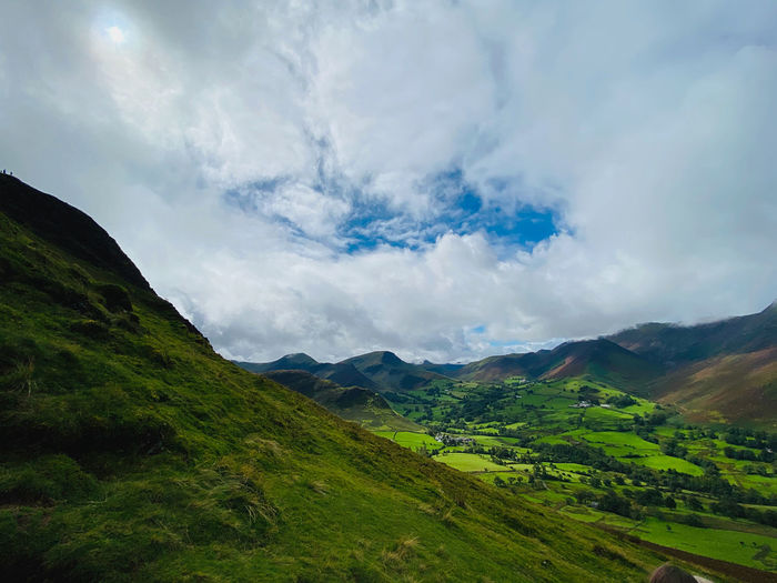 Lake district mountain view