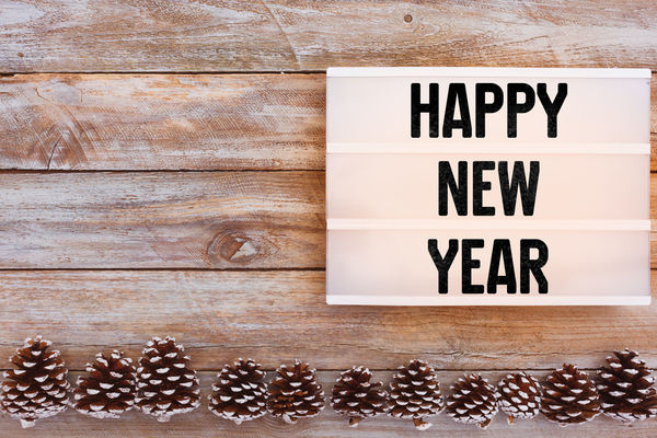 2019 Greeting Happy New New Year Silvester Beginning Change Information Message Plans Start Table Text Western Script Year