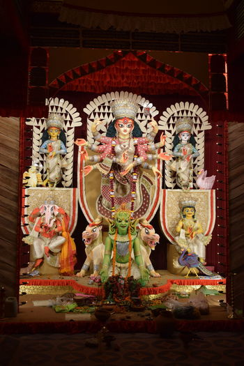 Durgapuja Black Background Indoors  Close-up Young Adult Idols