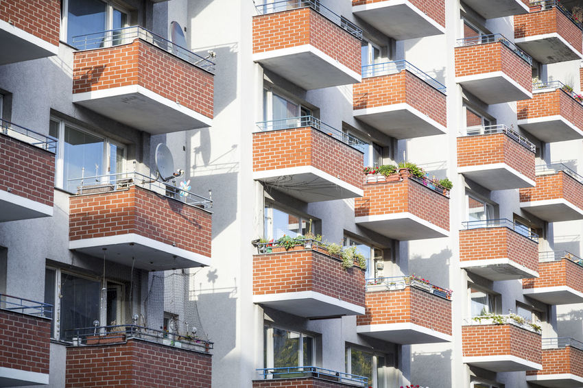 Symphony of balcony Apartment Architecture Balcony Berlin Building Exterior City Life Geometric Shape In A Row Kreuzberg No People Pattern Repetition Residential Building Residential Structure