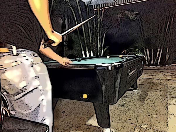 Pool Pool Table Bar Scene Bar Sports Cartoon