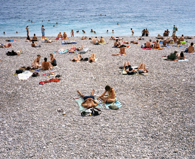 plage de nice Beach Photography Blau Bleu Blue Bronzer  Galet Kieselstein Nice Pebble Beach Plage Soleil Sonne Strand Sun Water
