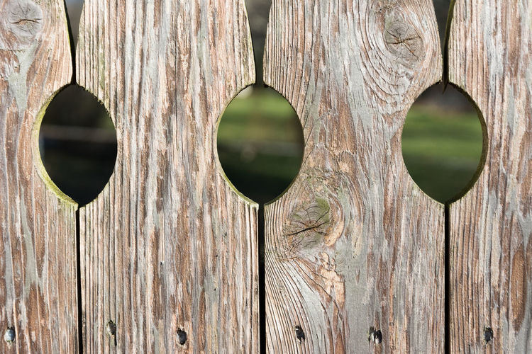 Detail Shot Of Wooden Fence