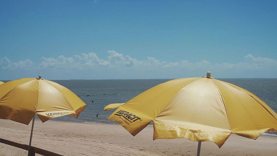 EyeEm Selects Beach Summer Yellow Sky Tranquility Water Horizon Over Water Vacations Sea Day Good Morning Hello World Lifeisabeach Yellowandblue