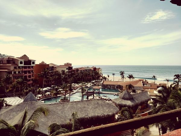 Sea Horizon Over Water House Residential Building Building Exterior Architecture Beach Outdoors Built Structure Water Day No People Sky Nature City Playa Summer Cabos Mexico Travel Destinations CaboSanLucas Cloud - Sky Nature Sunset Playa Grande