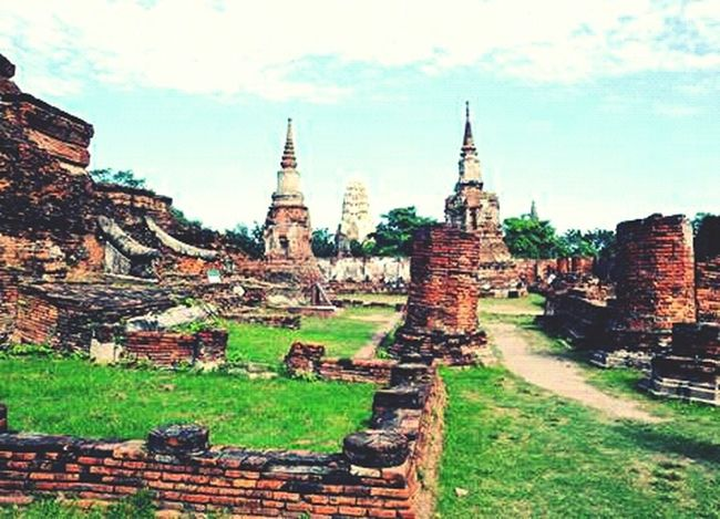 Ayutthaya Antique Ruins Temple Tailand