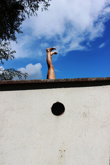 The Week On EyeEm Blue Cloud - Sky Day Low Angle View Nature One Person Real People Retaining Wall Sky