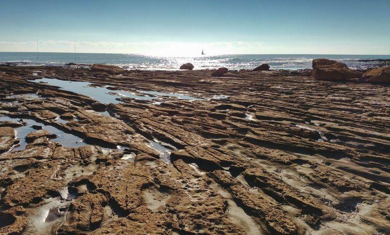 ... Rock Природа Nature Naturaleza SPAIN Sunlight Mar камень солнце Море Sea Erosion Erosion Rocks Puddle Pool Sun