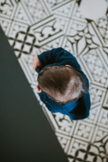 Up Childhood Child High Angle View One Person Real People Indoors  Lifestyles Leisure Activity Casual Clothing Full Length Directly Above Innocence Baby Art And Craft Rear View Pattern Babyhood My Best Photo