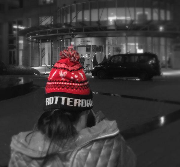 Rotterdam Feyenoord Colour Splash Red Hat